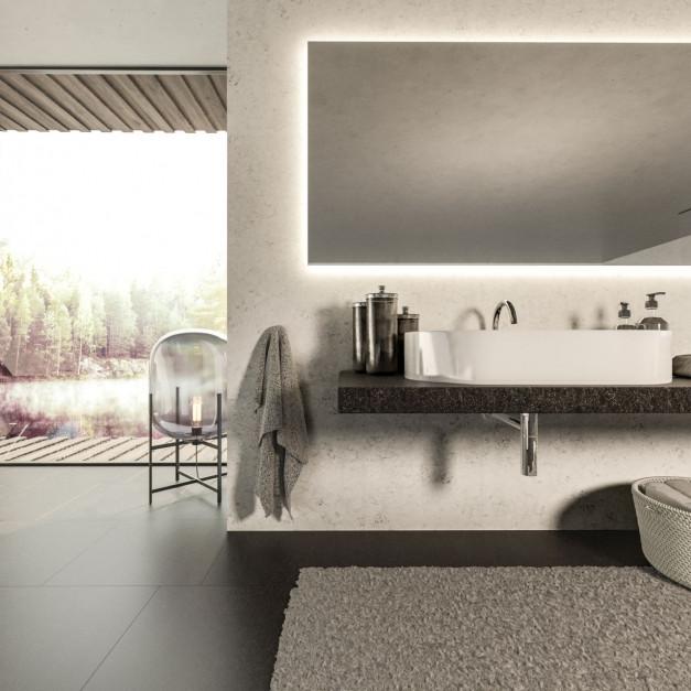 Konglomerat kwarcowy Noble Arco od TechniStone do łazienki