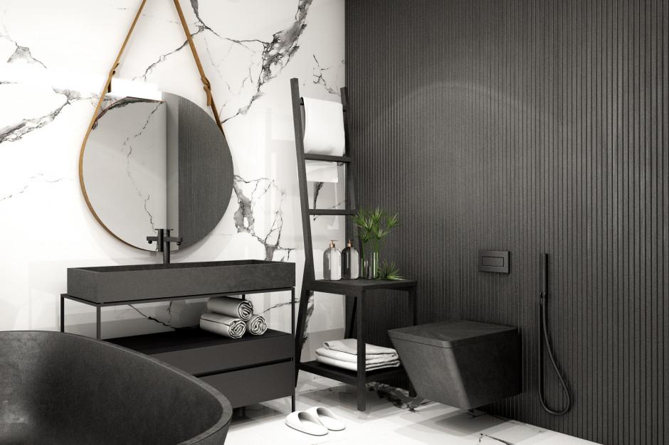 Czarna farba w łazience. Czy się sprawdzi?