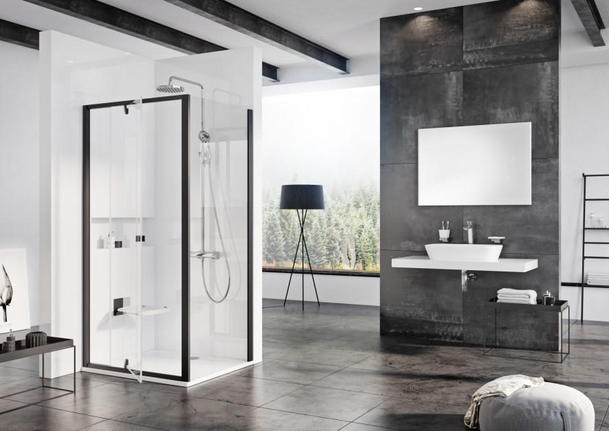 Czerń w łazience: wprowadź ją do strefy prysznica