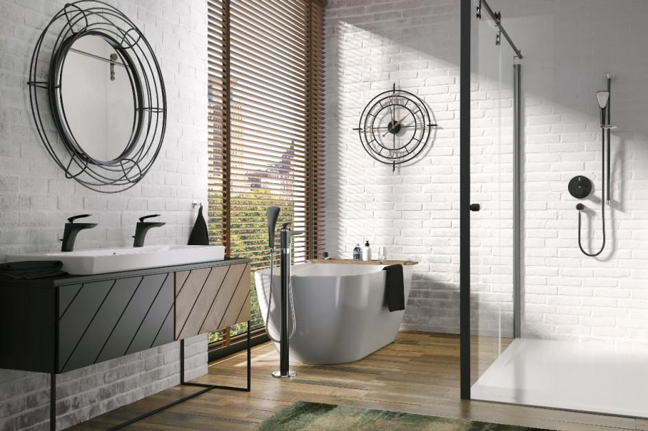 Czerń w łazience: popularna seria baterii w nowej odsłonie