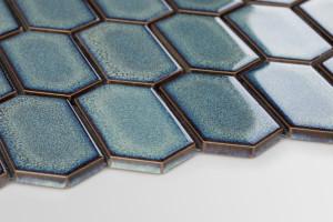 Modne formy i kolory: postaw na geometryczną mozaikę w odcieniach granatu i zieleni
