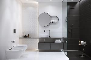 Czarno-biała łazienka: wybieramy płytki ceramiczne