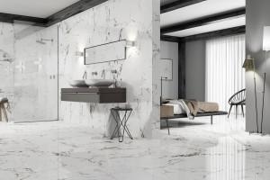 Biały marmur w łazience: 10 kolekcji płytek ceramicznych