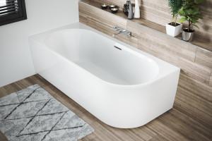 Strefa kąpieli w małej łazience. Nowoczesne wyposażenie daje więcej możliwości