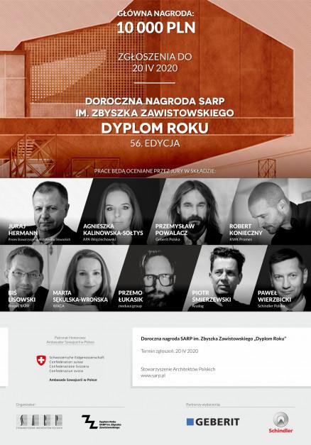 Trwa konkurs SARP Dyplom Roku 2020